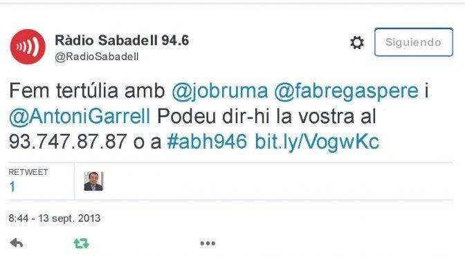 TERTÚLIA RADIO. Radio Sabadell. A Bona Hora (2013.09.13)