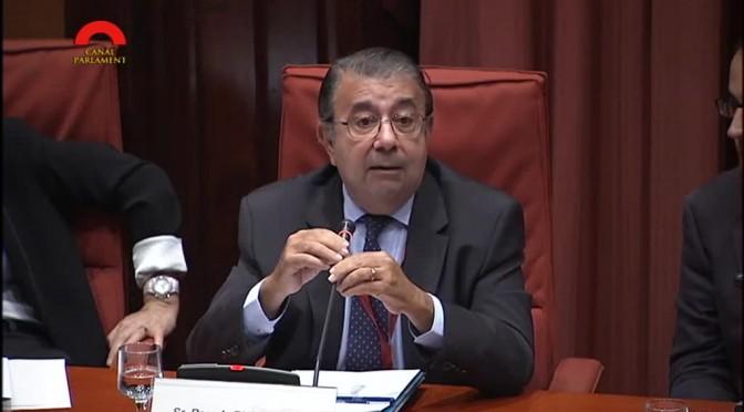 COMPAREIXENÇA PARLAMENTARIA. Parlament de Catalunya. Resposta Pere-A. Fàbregas preguntes diputades i diputats