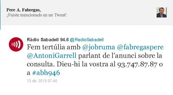 TERTÚLIA RADIO. Radio Sabadell. A Bona Hora (2013.12.13)