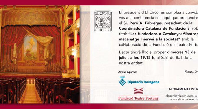 PONÈNCIA. Les fundacions a Catalunya: filantropia, mecenatge i servei a la societat