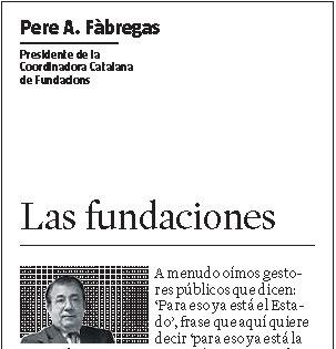 ARTÍCULO PRENSA. Las fundaciones [La Vanguardia]