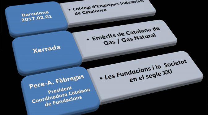 PONÈNCIA. Les Fundacions i la  Societat en el segle XXI