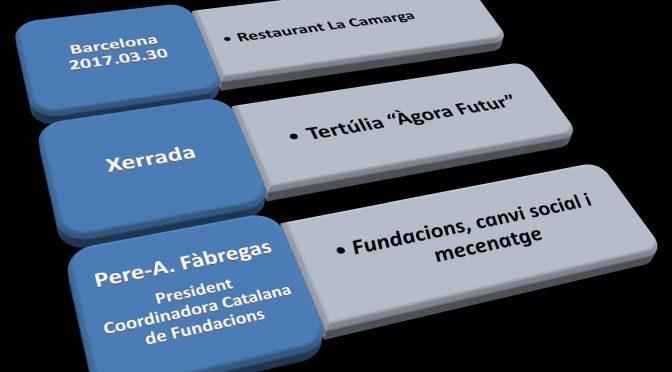 PONÈNCIA.  Fundacions, canvi social i mecenatge