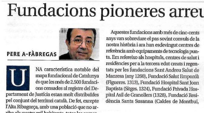 ARTICLE PREMSA. Fundacions pioneres arreu del territori [Diari de Terrassa]