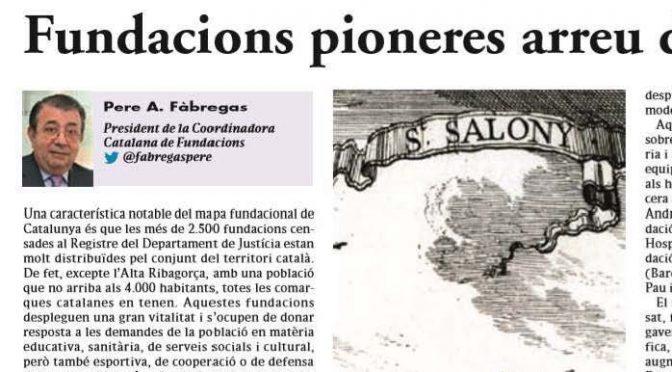 ARTICLE PREMSA. Fundacions pioneres arreu del territori [El 9 de Nou]
